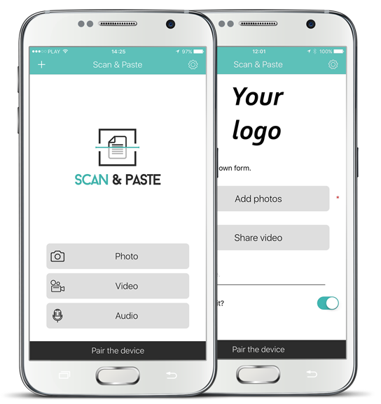 Scan&Paste mobile application